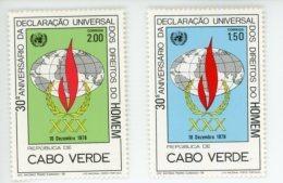 Cap Vert-Cabo Verde-1978-Droits De L'homme-401/2***MNH - Cap Vert