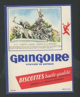BUVARD:  BISCOTTES GRINGOIRE - PITHIVIERS EN GATINAIS - N°51 PLACE DE LA NATION - Biscottes