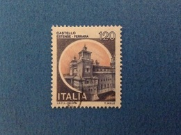 1980 ITALIA FRANCOBOLLI CASTELLI USATO STAMP USED 120 LIRE CASTELLO ESTENSE FERRARA - 1946-.. Republiek