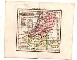 Gravure : Carte De PAYS BAS (+BELGIQUE ET LUXEMBOURG) En Couleurs (vers 1830)    (PPP17146/ 14) - Geographical Maps