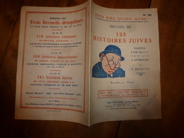 125 Histoires Juives - Courtes- Comiques-faciles à Apprendre Et à Raconter) - Autres Collections