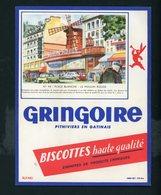 BUVARD:  BISCOTTES GRINGOIRE - PITHIVIERS EN GATINAIS - N° 44 PLACE BLANCHE - Biscottes