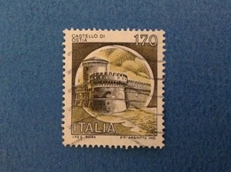 1980 ITALIA FRANCOBOLLI CASTELLI USATO STAMP USED - 170 LIRE CASTELLO DI OSTIA - 1946-.. Republiek