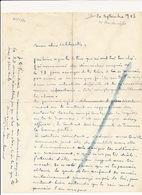 Lettre D'Auguste Mambour, 1943 - Autographes