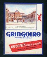 BUVARD:  BISCOTTES GRINGOIRE - PITHIVIERS EN GATINAIS - N° 60 PALAIS DE JUSTICE - Biscottes