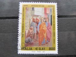 *ITALIA* USATI 2001 - MASACCIO - SASSONE 2549 - LUSSO/FIOR DI STAMPA - 6. 1946-.. Repubblica