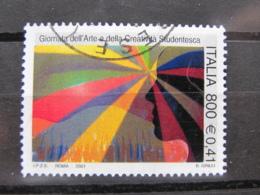 *ITALIA* USATI 2001 - GIORNATA ARTE CREATIVITA' STUDENTESCA - SASSONE 2548 - LUSSO/FIOR DI STAMPA - 6. 1946-.. Repubblica