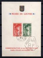 - FRANCE Feuillet Du Louvre 354/55 Oblitérés - 30 C. Vert + 55 C. Rouge Victoire De Samothrace 1937 - Cote 170 EUR - - France