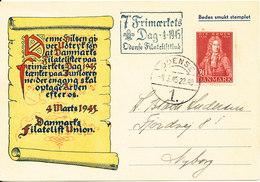 Denmark Card Stamp's Day Odense 4-3-1945 - 1913-47 (Christian X)