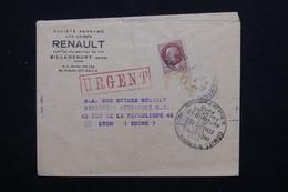 """FRANCE - Enveloppe Commerciale ( Renault) De Billancourt Pour Lyon En 1942 , Cachet """" Comité D'Organisation ."""" - L 22557 - Marcophilie (Lettres)"""