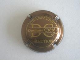 Capsule Champagne Crété Dominique, N° 13c, Marron Métallisé Et Or - Non Classés