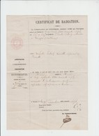 COUTHUIN - FORVILLE - NAMUR - CERTIFICAT - 1867 - Manuscrits