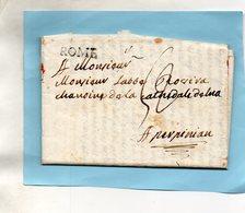 Bureau Français De ROME,le 3/6/1788,correspondance Pour PERPIGNAN. - Italien