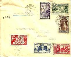 De BRAZAVILLE à CHAROLLES -Série De L'Expo. 1937 - 1938 - - French Congo (1891-1960)