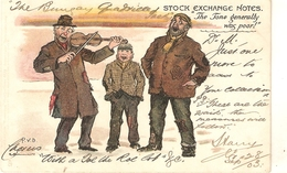 """Percy V. Bradshaw. Stock Esnchange Noted. The Tone Generally Was Poor"""" Tuck Humorous Ser. PC # 1179 - Tuck, Raphael"""