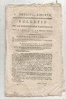 Bulletin De La Convention Nationale,l'an IV , P. Guérin, Marseille , Bouches Du Rhône , 7 Pages , Frais Fr 1.95 E - Décrets & Lois