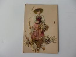 Découpi D'une Femme Avec Edelweiss. - Kinderen