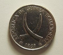 Equatorial Guinea 25 Pesetas 1969 Varnished - Guinée Equatoriale