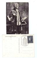 """Österreich, 1956, AK Mit Mozart-Bild + Briefm.""""200. Geburtstag V. W.A.Mozart"""", MiNr.1024 + SStpl  (12436G) - 1945-.... 2nd Republic"""