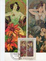 Carte Maximum Alfons Mucha  Art Nouveau Tchécoslovaquie Obliteration 1er Jour 14.07.1969 - Arts