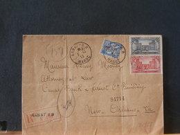 82/954  LETTRE RECOMM. MAROC  1919 POUR USA - Marokko (1891-1956)