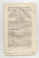 Bulletin De La Convention Nationale,l'an III ,  , Secours Public : SAVOIE, 8 Pages,frais Fr 1.95 E - Décrets & Lois