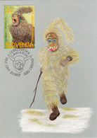 1997 CERKNO CERKLJANSKA LAUFARIJA SLOVENIJA  MC MK MAXIMUM CARD CARNIVAL MASKS - Slovenia