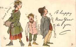 """""""T.E.Donnison. A Happy New Year To You"""" Tuck Humorous  Christmas  Series PC # 1795 - Tuck, Raphael"""