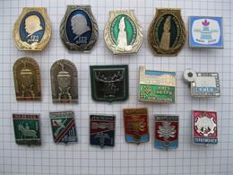 A IDENTIFIER Lot De 16 Pin's épingle D'origine URSS ? - Pin's