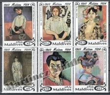 Maldives - Maldivas 1994 Yvert 1784-89, 40th Anniv Of Death Of Henri Matisse - MNH - Maldives (1965-...)