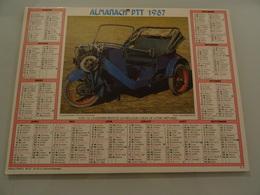 Almanach Ptt De 1987 Recto  Triclycle  Phanomen  1907 Verso Renault 1917 - Calendriers