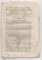 Bulletin De La Convention Nationale,l'an III , Les Grands Criminels, 8 Pages,frais Fr 1.95 E - Décrets & Lois
