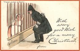 """Lance Tackeray. Twist Love On Duty""  Tuck Comi Sketches Christmas Ser. PC # 1796 - Tuck, Raphael"
