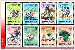 Rwanda 0851/58**  Scoutisme   MNHH - 1980-89: Neufs
