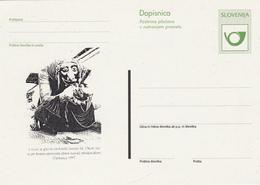 DOPISNICA DOTISK 1997 CERKNICA  SLOVENIJA PUST CARNIVAL MASKS - Slovenia