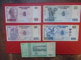 LOT 5 BILLETS CONGO NEUFS Ou CIRCULER - Coins & Banknotes