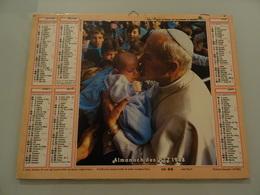 Almanach Ptt De 1988 Recto  Pape Jean Paul Ll Verso Jean Paul Ll - Calendriers