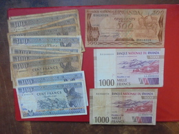 LOT 14 BILLETS RWANDA NEUFS Ou CIRCULER - Coins & Banknotes
