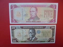 LOT 2 BILLETS LIBERIA NEUFS Ou CIRCULER - Coins & Banknotes