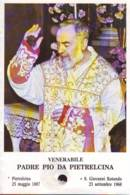 Reliquia Venerabile Padre Pio Benedicente, Santino Pieghevole Con Preghiera - Religione & Esoterismo