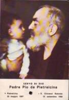 Reliquia Servo Di Dio Padre Pio Con Bambino, Santino Pieghevole Con Preghiera - Religione & Esoterismo