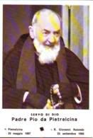 Reliquia Servo Di Dio Padre Pio Con Rosario, Santino Pieghevole Con Preghiera - Religione & Esoterismo