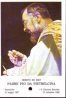 Reliquia Servo Di Dio Padre Pio  Dice Messa, Santino Pieghevole Con Preghiera - Religione & Esoterismo