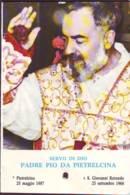 Reliquia Servo Di Dio Padre Pio  Mano In Alto, Santino Pieghevole Con Preghiera - Religione & Esoterismo