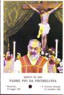 Reliquia Servo Di Dio Padre Pio  Con Grande Crocifisso, Santino Pieghevole Con Preghiera - Religione & Esoterismo
