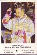 Reliquia Servo Di Dio Padre Pio  Benedicente, Santino Pieghevole Con Preghiera - Religione & Esoterismo