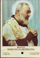 Reliquia Beato Padre Pio  Mani Giunte, Santino Pieghevole Con Preghiera - Religione & Esoterismo