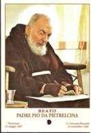 Reliquia Beato Padre Pio  Che Scrive, Santino Pieghevole Con Preghiera - Religione & Esoterismo