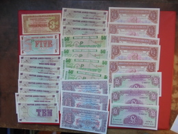 "LOT 27 BILLETS ""BRITISH ARMED"" NEUFS Ou CIRCULER - Coins & Banknotes"