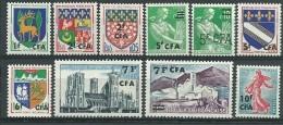 REUNION CFA: **, N° 342 à 349, 10 Tp, TB - Reunion Island (1852-1975)